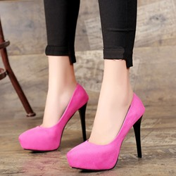 Shoespie Stylish Solid Platform Heels