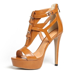 Shoespie Peep Toe Gladiator Zipper Platform Buckle Stiletto Heel Sandals shoespie