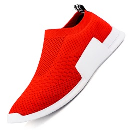 Shoespie Round Toe Slip On Men's Running Shoes