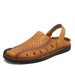 Shoespie Hollow Slip-On Men's Sandals