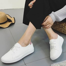 Shoespie Round Toe Lace-up Sneaker