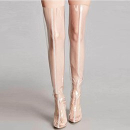 Shoespie Individual Transparent Knee High Boots