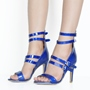 Shoespie Blue Strappy Stiletto Heel Sandals