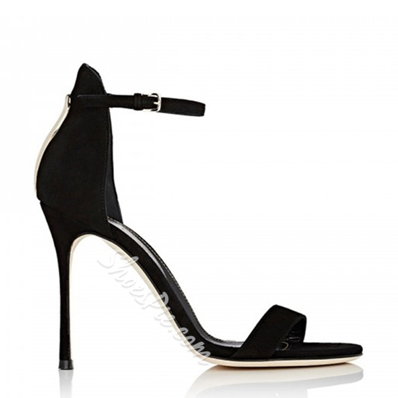 Shoespie Black Heel Covering Sandals