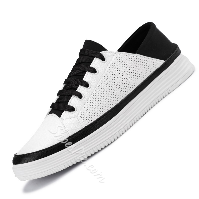 Shoespie Breathable Round Toe Lace Up Men's Sneakers