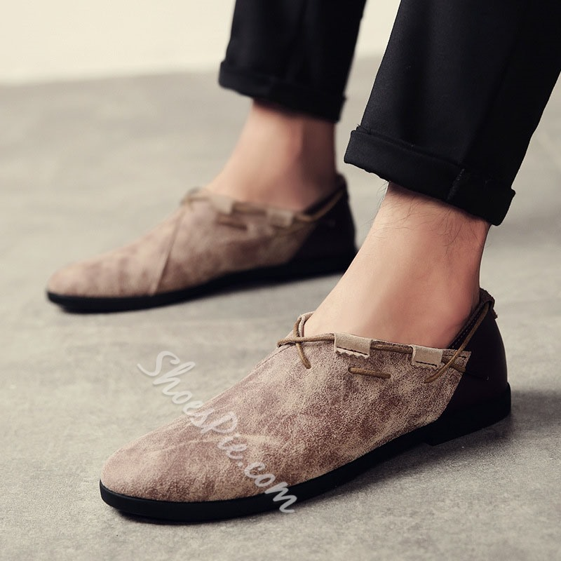 Shoespie Round Toe Suede Slip On Men's Loafers