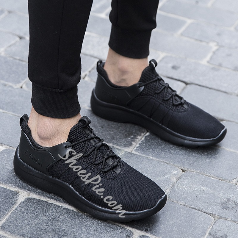 Shoespie Mesh Casual Lace-Up Sneaker
