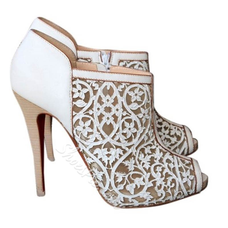 Shoespie Toed Cutout Side Zipper Ankle Boots