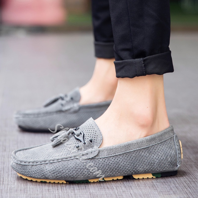 Shoespie Bow Thread Round Toe Men's Loafers