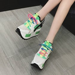 Shoespie Plain Hidden Wedge Sneaker