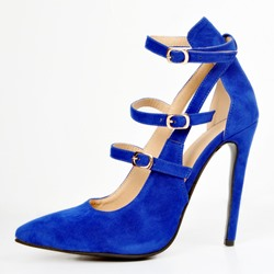 Shoespie Hollow Pointed Toe Buckles Stiletto Heels