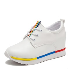 Shoespie Hidden Elevator Heel Lace-Up Sneaker