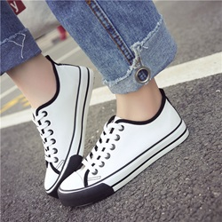 Shoespie Round Toe Thread Platform Sneaker