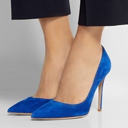 Shoespie Blue Elegant Pointed Toe Stiletto Heels