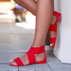 Open Toe Heel Covering Flat Sandal