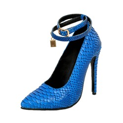 Shoespie Buckles Serpentine Stiletto Heels