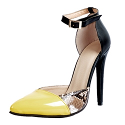 Shoespie Serpentine Buckle Stiletto Heels
