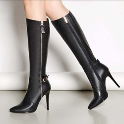 Shoespie Side Zipper Stiletto Heel Fashion Boots Knee High Boots
