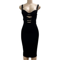 Shoespie Spaghetti Strap Hollow Backless Pencil Sleeveless Bodycon Dress