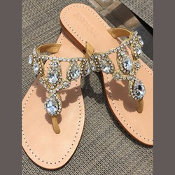 Shoespie Rhinestone Thong Slipper Mules Shoes