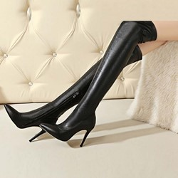 Shoespie Side Zipper Stiletto Heel Boots Knee High Boots