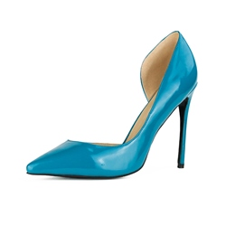 Shoespie Blue Thread Pointed Toe Stiletto Heel