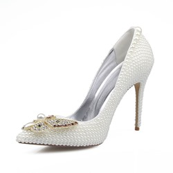 Shoespie Rhinestone Beads Stiletto Heels