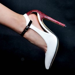 Shoespie Hollow Buckle Stiletto Heels