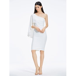 Shoespie Batwing Oblique Women's Bodycon Dress