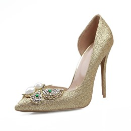 Shoespie Rhinestone Pointed Toe Pointed Toe Stiletto Heels