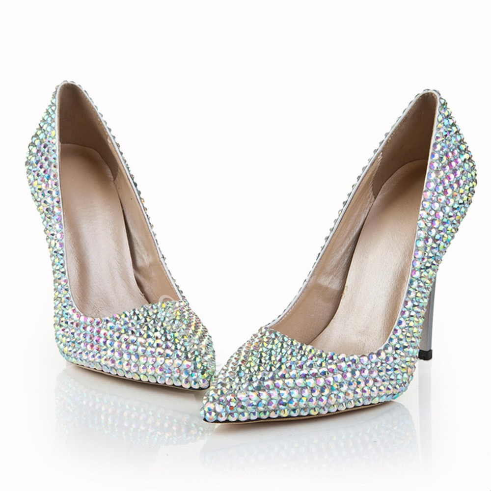 Shoespie Rhinestone Wedding Stiletto Heels