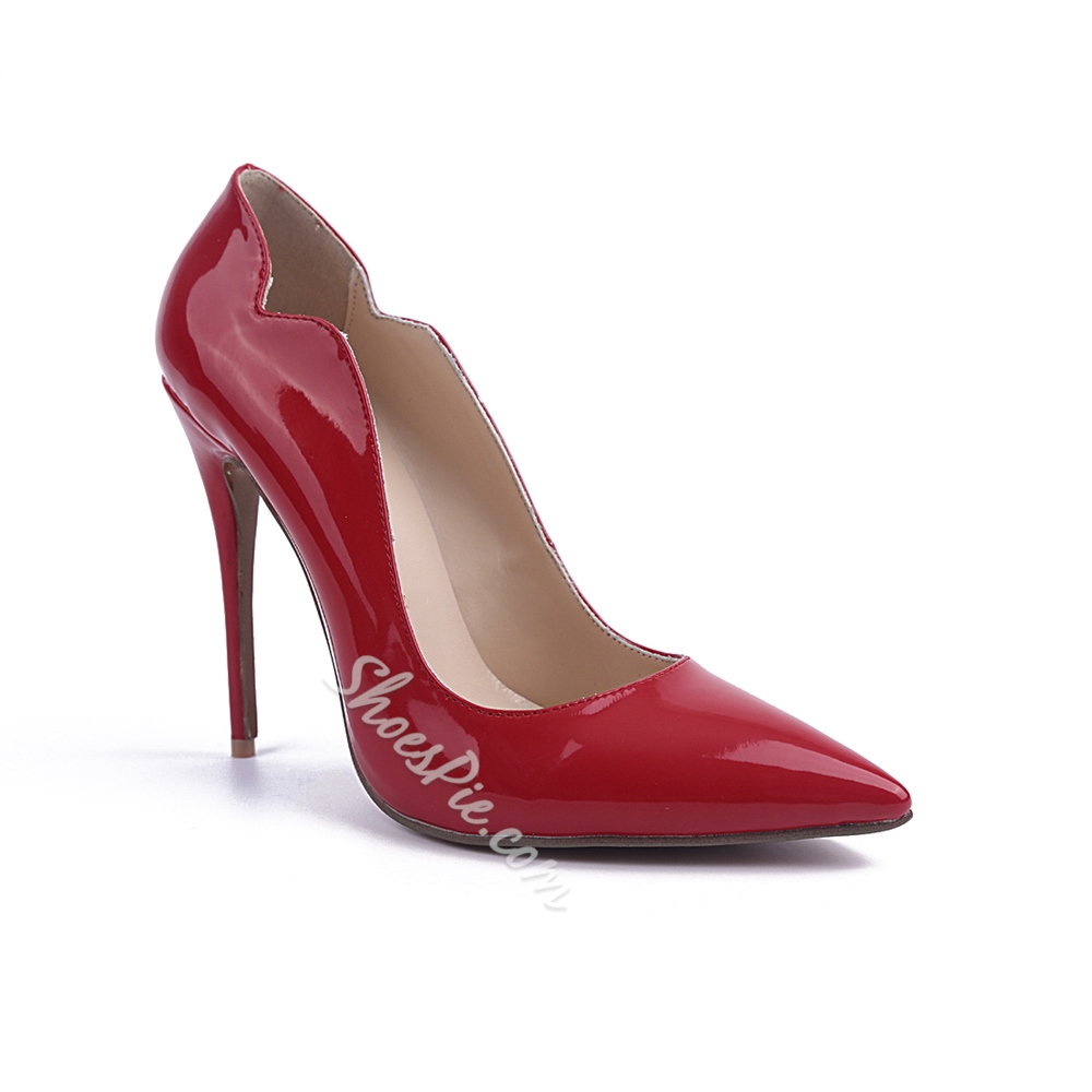 Shoespie Elegant Red Pointed Toe Stiletto Heels