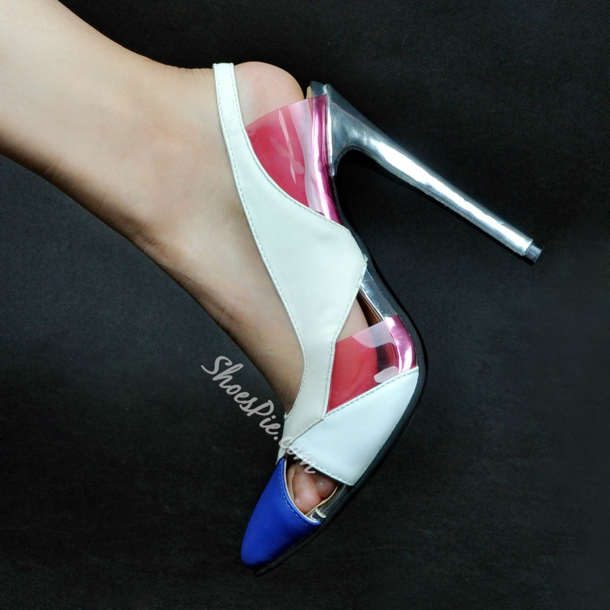 Shoespie Hollow Patchwork Stiletto Heels