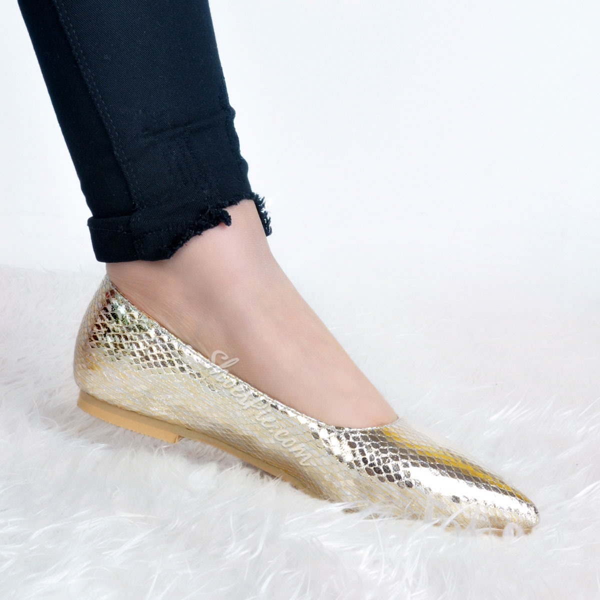 Shoespie Elegant Pointed Toe Thread Loafers