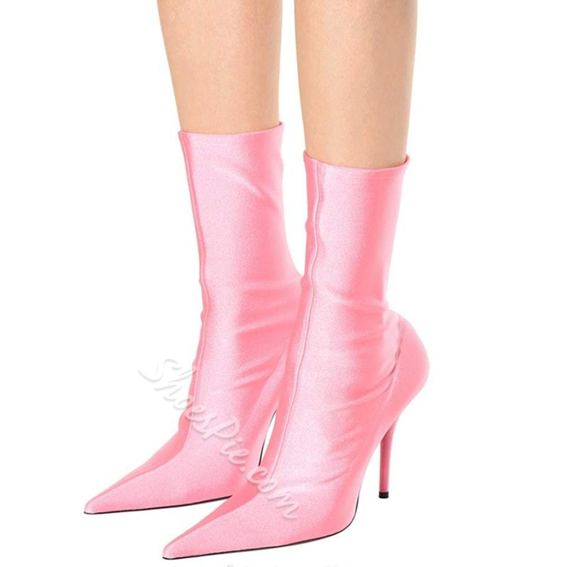 Shoespie Fashion Pointed Toe Ankle Boots