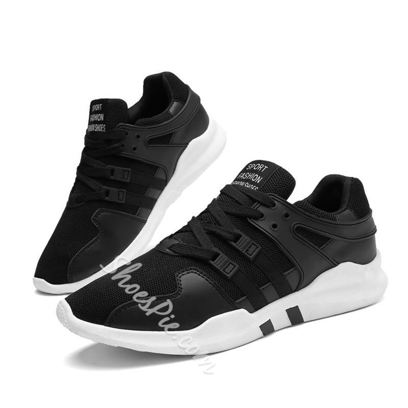 Shoespie Mesh Lace-Up Sneakers Athletic Shoes