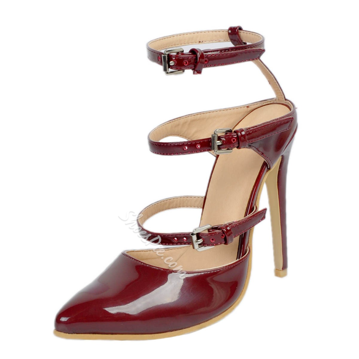 Shoespie Sexy Buckles Pointed-toe Stiletto Heels