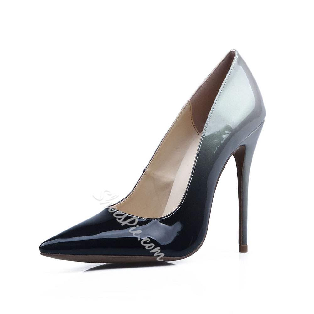 Shoespie Pointed Toe Gradual Stiletto Heels