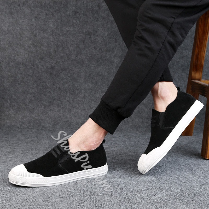 Shoespie Color Block Casual Slip-On Sneakers Athletic Shoes