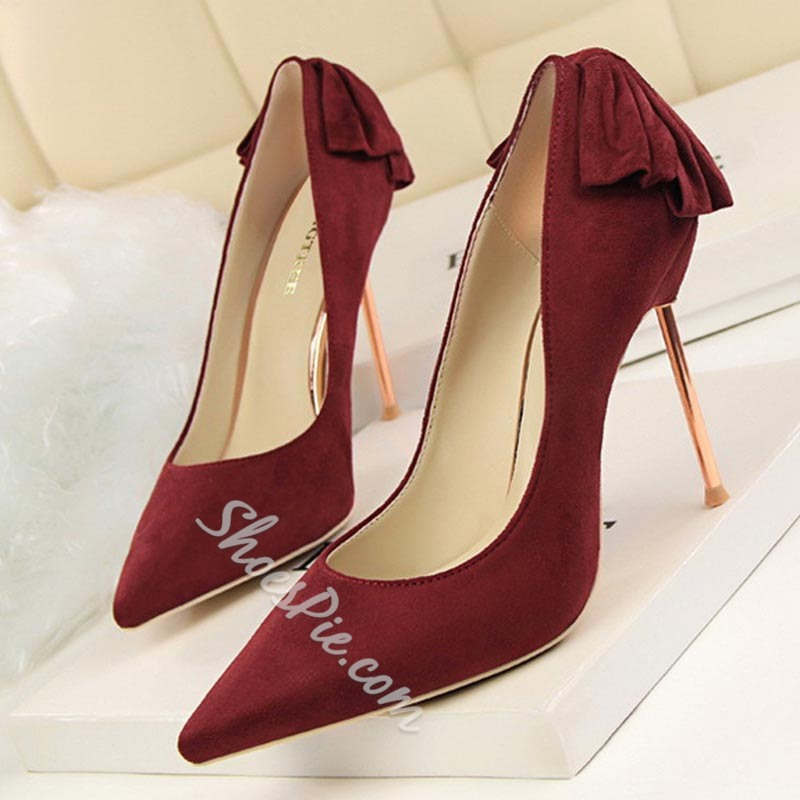 Shoepsie Pointed-toe Shallow Stiletto Heels
