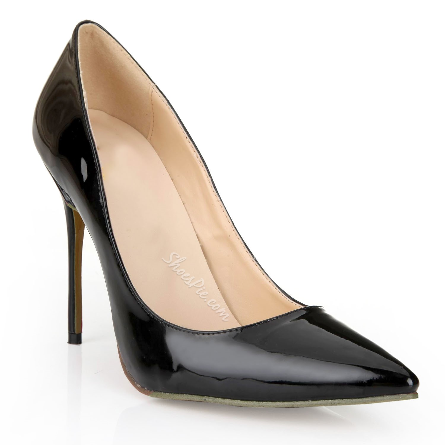 Shoespie Professional Black Pointed Toe Stiletto Heel