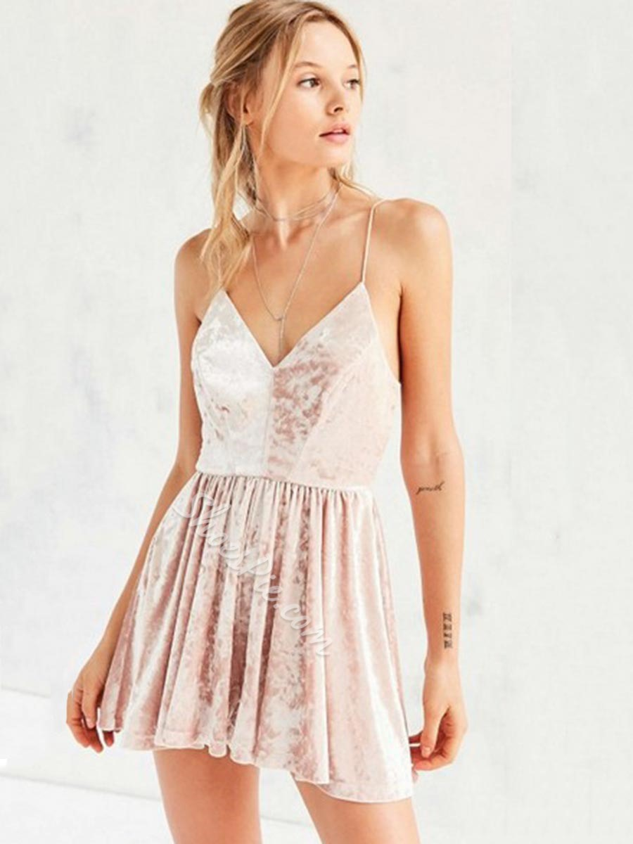 Shoespie Expansion Spaghetti Strap Backless Sleeveless Dress