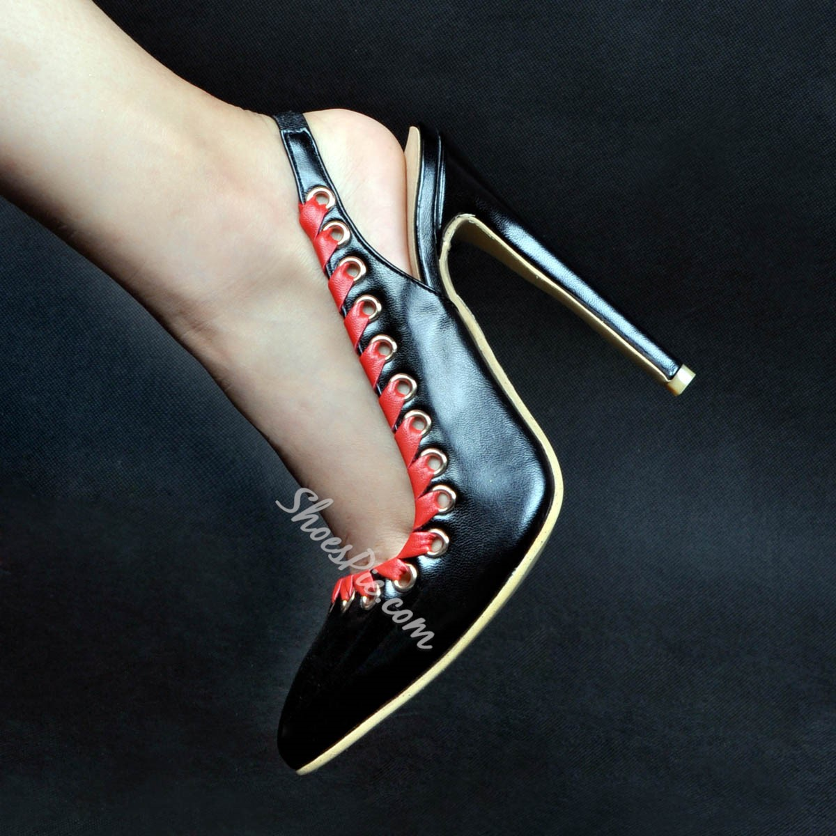 Shoespie Hollow Pointed-toe Stiletto Heels