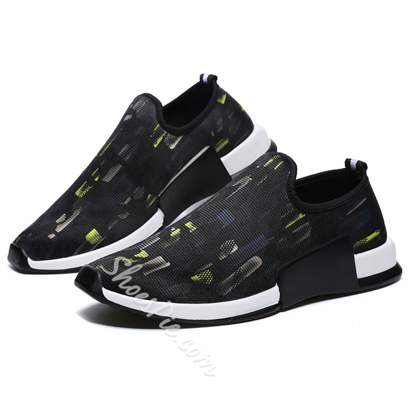 Shoespie Round Toe Thread Men's Sneakers