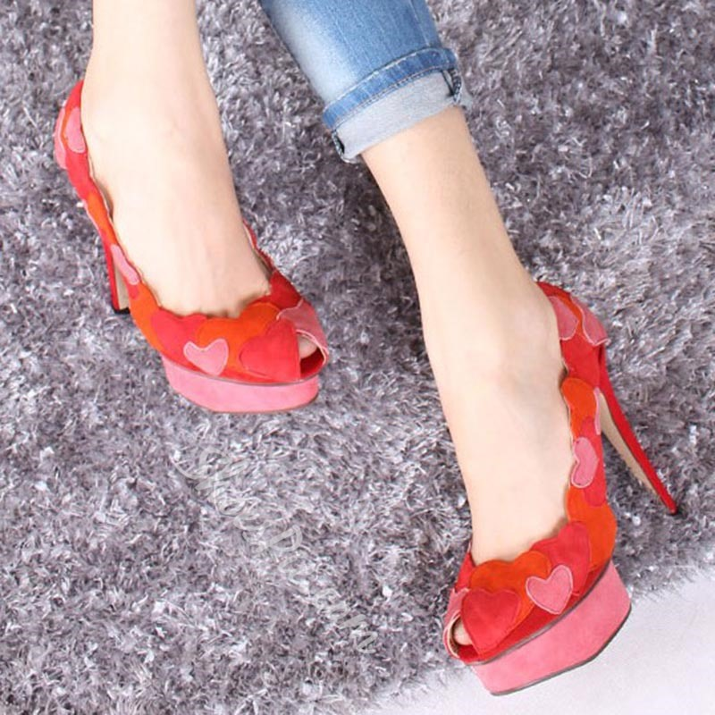 Shoespie Elegant Heart Stiletto Heels