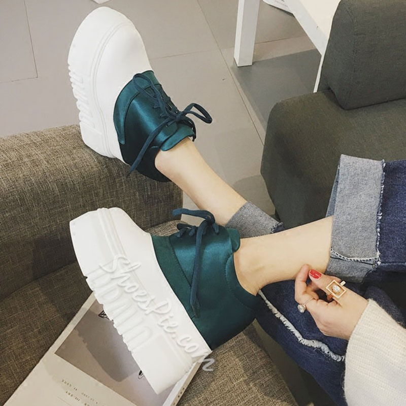 Shoespie Trendy Lace-up Flatform Sneaker