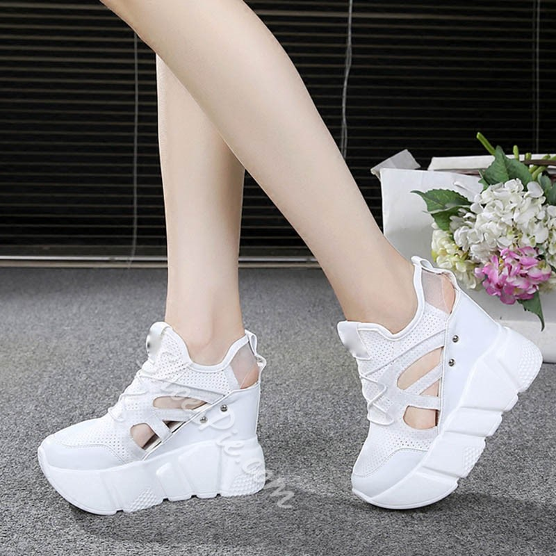 Shoespie Breathable English Flatform Sneaker