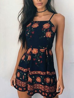 Shoespie Patchwork Print Pullover Dress