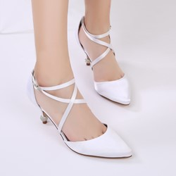 Shoespie Pointed Toe Wedding Line-Style BuckleStiletto Heel Dress Sandals