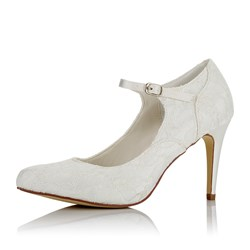 Shoespie Round Toe Buckle Bridal Shoes
